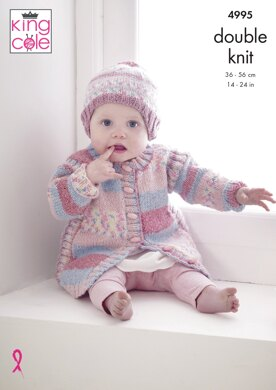 Coat, Hat, Sweater, Tabard and Gilet in King Cole DK - 4995 - Downloadable PDF