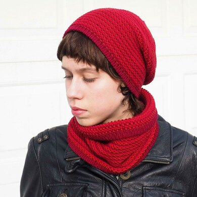 Simple Mix Beanie and Cowl