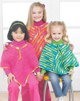 Easy Ponchos in Bernat Handicrafter Cotton Solids