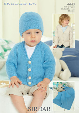 Boy's Cardigan, Hat and Blanket in Sirdar Snuggly DK - 4440