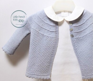c0fdce5c1 19   Baby Jacket Knitting pattern by Florence Merlin