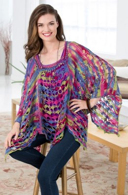 Light & Lacy Poncho  in Red Heart Heart & Sole - LW3312