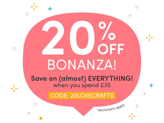 20% off BONANZA! Save on (almost) everything when you spend £35. CODE: 20LOVECRAFTS