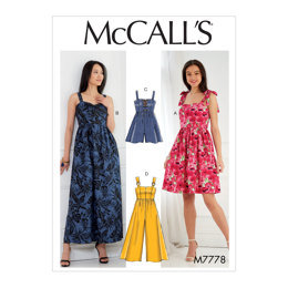 McCall's Misses' Dresses, Romper and Jumpsuit M7778 - Sewing Pattern