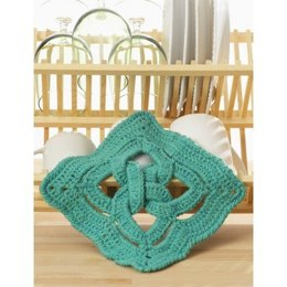 Celtic Knot dishcloth in Lily Sugar 'n Cream Solids