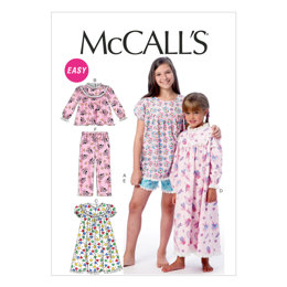 McCall's Children's/Girls' Tops, Gowns, Short and Pants M6831 - Sewing Pattern