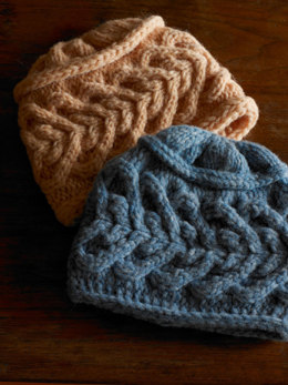 Moonshine Hat & Mitten Set in Imperial Yarn Bulky 2 Strand - P143 - Downloadable PDF