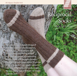 Reciprocal Socks in UK Alpaca Baby Alpaca Merino DK - Downloadable PDF