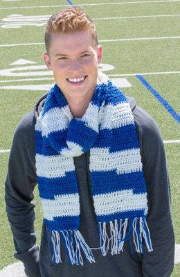 Guys Game Day Scarf in Red Heart Team Spirit - LW4965 - Downloadable PDF