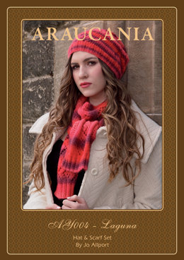 Hat and Scarf Set in Araucania Laguna - AY004