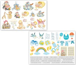 Dress My Craft Image Sheet 240gsm A4 2/Pkg - Precious Baby Boy