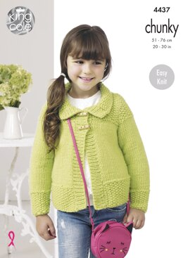 Jackets in King Cole Comfort Chunky - 4437 - Downloadable PDF
