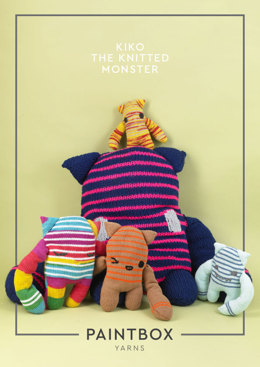Kiko the Knitted Monster in Paintbox Yarns - Downloadable PDF