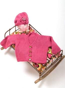 Keeping It Simple Baby Jacket & Hat in Caron Simply Soft