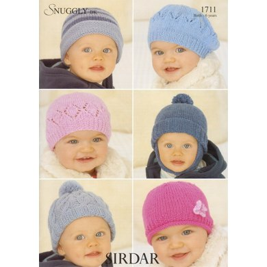Kids Hats and a Beret in Sirdar Snuggly DK - 1711