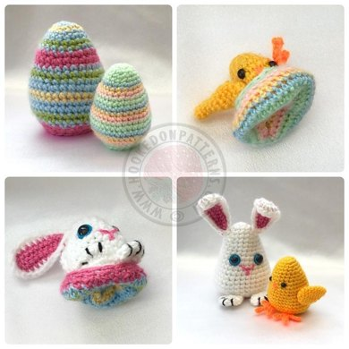 Easter Egg Flips Bunny Chick Crochet Pattern By Hooked On Patterns
