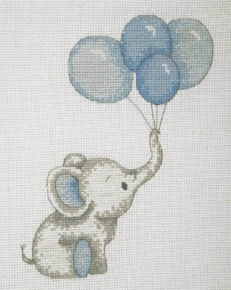 Anchor Boy Balloons Cross Stitch Kit - Multi