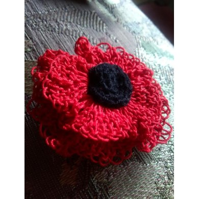 Poppy Brooch Pin Crochet Pattern By Katyjane Creations