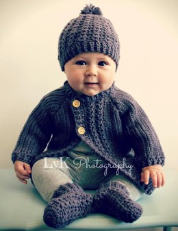 Simple Cable Baby Cardigan