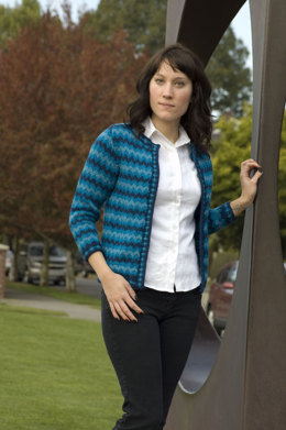 Tonal Fair Isle Jacket in Cascade 220 - W230