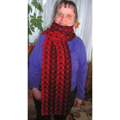 Double knitting ladybug scarf or baby blanket