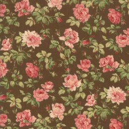 Moda Fabrics Roses and Chocolate II Floral Roses Brown