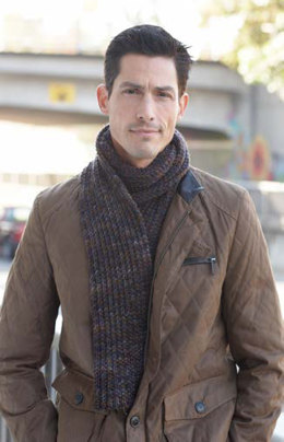 Men's Interchangeable Scarves in Caron Simply Soft, Simply Soft Heathers and Simply Soft Paints - Downloadable PDF