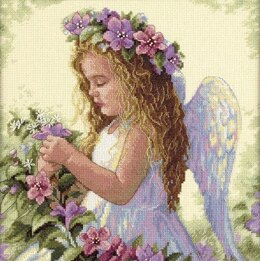 Dimensions Passion Flower Angel Cross Stitch Kit - 28cm x 28cm