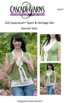 Earrach Vest in Cascade 220 Sport and Heritage Silk - DK277