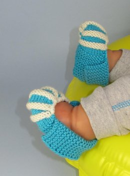 Baby Simple Stripe Granny Slippers