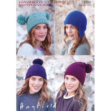 Hats in Hayfield Chunky with Wool - 7380