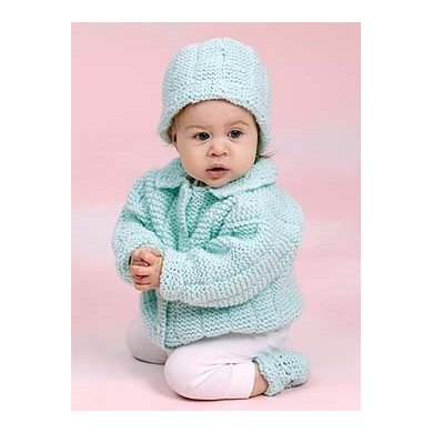 Knit Perfect Baby Gift Setin Lion Brand Pound Of Love - 20112AD