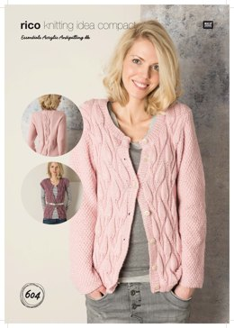 Cardigan and Waistcoat in Rico Essentials Acrylic Antipilling DK - 604
