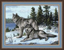 Oven Wolves Cross Stitch Kit