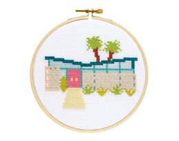 The Stranded Stitch Palm Springs Getaway Cross Stitch Kit - 5 inches