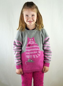 Cat and Mouse Sweater in Cascade Yarns Sarasota - DK601 - Downloadable PDF