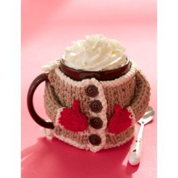 Hug Me Mug Cozy in Lily Sugar 'n Cream Solids