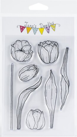 "Jane's Doodles Clear Stamps 4""X6"" - Tulips"