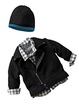 Babies Jacket, Hat and Scarf in Bergere de France Barisienne - 60437-14 - Downloadable PDF