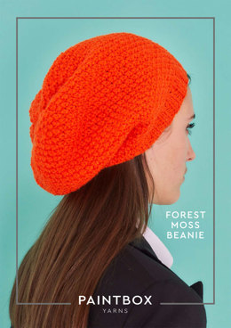 """Forest Moss Beanie"" - Beanie Knitting Pattern in Paintbox Yarns Simply Aran"