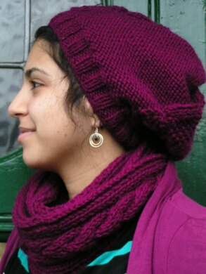 Versatile Cable Scarf/  Snood