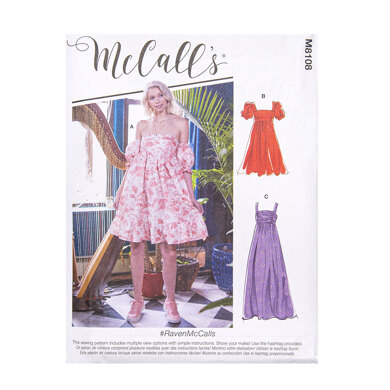 McCall's Misses' Dresses M8108 - Sewing Pattern