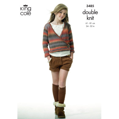 Cardigan and Waistcoat in King Cole DK - 3485