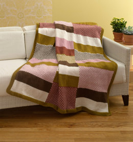 Colleen's Delight Afghan in Lion Brand Wool-Ease - 90500AD