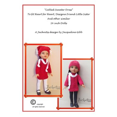 Sweater Dress for 14inch Dolls