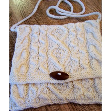Classic Celtic Cabled Clutch (or pillow top)