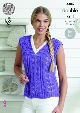 Sweater and Top in King Cole Bamboo Cotton DK - 4486 - Leaflet