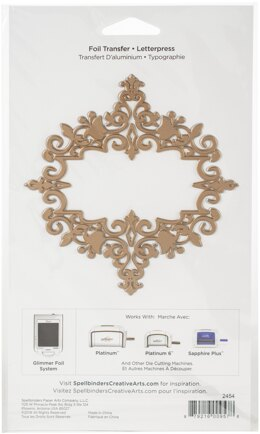 Spellbinders Amazing Papers Grace Glimmer Hot Foil Plate - Petite Looking Glass Frame
