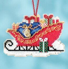 Mill Hill Traditional Sleigh Ornament Cross Stitch Kit - 3.5in x 2.5in