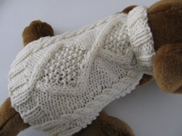 Diamond Back Aran Dog Sweater
